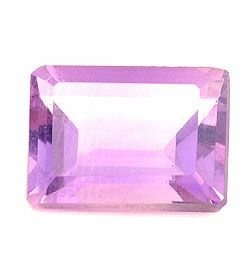 LAVENDER AMETHYST EMERALD CUT GEMSTONE 6x4mm - FREE SHIPPING