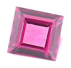 AFRICAN RHODOLITE GARNET SQUARE CUT GEMSTONE 3mm - FREE SHIPPING