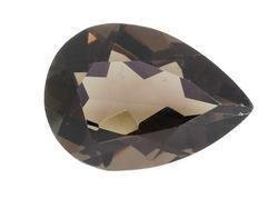 SMOKEY QUARTZ PEAR SHAPE GEMSTONE 16x12mm - FREE SHIPPING