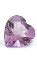 AMETHYST HEART CUT GEMSTONE 5mm - FREE SHIPPING