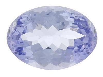 PURPLISH BLUE TANZANITE OVAL CUT GEMSTONE 5x3mm - FREE SHIPPING