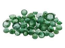 10 EMERALDS ROUND CUT GEMSTONES 1-2mm - FREE SHIPPING