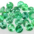 6 COLUMBIAN EMERALDS ROUND CUT GEMSTONES 1.5mm - FREE SHIPPING