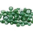 2 EMERALDS ROUND CUT GEMSTONES 2-2.5mm - FREE SHIPPING