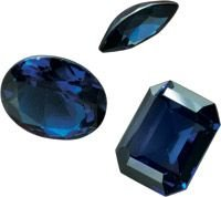 4 BLUE SAPPHIRE MIXED SHAPE GEMSTONES 1-2mm - FREE SHIPPING