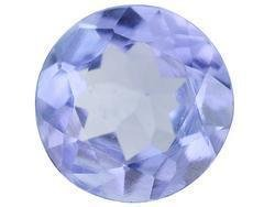 BLUE TANZANITE ROUND CUT GEMSTONE 3mm - FREE SHIPPING