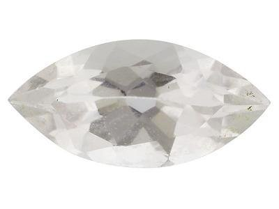WHITE TOPAZ MARQUISE CUT GEMSTONE 5x3mm - FREE SHIPPING