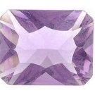 AMETHYST EMERALD CUT GEMSTONE 5x3mm - FREE SHIPPING