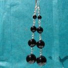 Black Onyx Sterling Silver Dangle Earrings - BK102