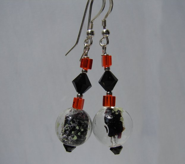 Black Glow in the Dark Halloween Earrings - E21