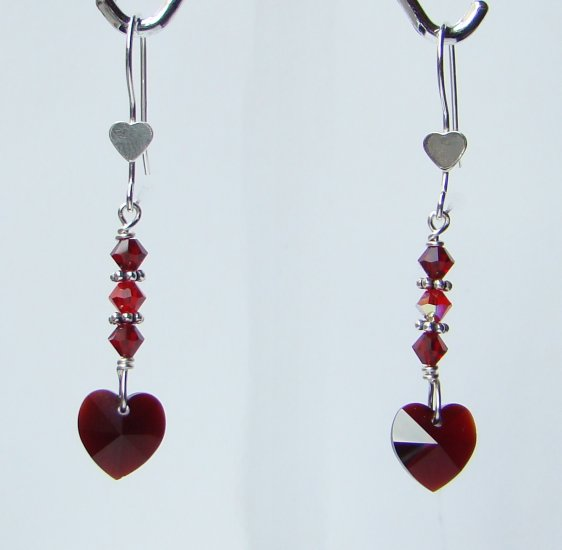 Swarovski Crystal Heart Earrings for Valentine's Day - R133