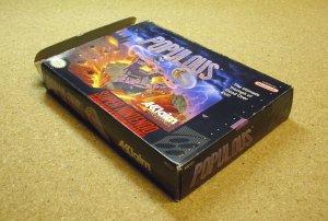 Populous, SNES Super Nintendo, by Akklaim.