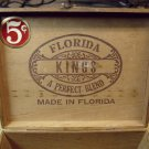 Florida Kings Spanish cedar, OLD wooden cigar box.