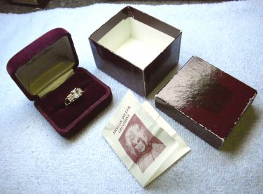 Phyllis Diller Creations, size 9, replica Ring with original display case, box, and insert.