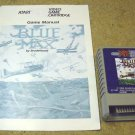 Blue Max , Atari 800 XL XE game cartridge with manual 1987, RX8081.