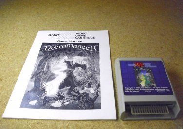 Necromancer , Atari 800 XE XL home computer video game and manual 1988, RX8108.