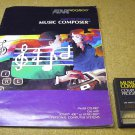 Atari Music Composer with manual, CXL4007, for Atari 400 800 800XL home computers.
