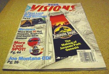 SEGA Visions magazine issue JUNE ~ JULY 1993.