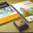 PILOT programming cartridge Atari 400 800 XL CXL4018 with manual and Student Reference Guide book.