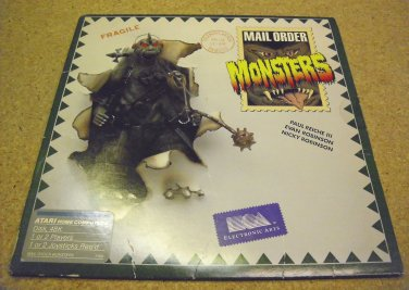 Mail Order Monsters with manual Atari 800 XL game , by Electronic Arts, 1986. seems rare.