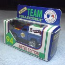 "Atlanta Braves baseball "" TEAM "" Matchbox diecast car 1994 with box, by White Rose Collectibles."