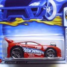 Mitsubishi Eclipse, Hot Wheels car, 2003 First Editions, bright red, Metal collection, carded.
