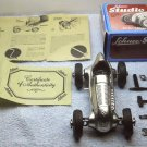 Schuco Studio 1050 Merecedes Grand Prix 1936 #4 Silver windup toy hobby die cast car, W Germany.