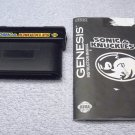 Sonic and Knuckles Sega Genesis cartridge game with manual, tested, 1994.