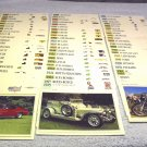 Classic car cards by GMH, Pontiac, Ford, Chevy, Jaguar, Rolls Royce and more, 65 cards.