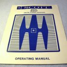 Scott R 357 stereo operating manual, HH Scott, factory original, 1977, 1978, R357