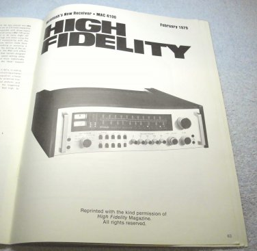 McIntosh stereo catalog, amp, tuner, speaker, 1978, 1979 products catalog, Ecrater.