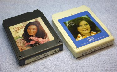 Loretta Lynn 8 Track tapes Greatest Hits Vol 2 and Somebody Somewhere MCT-420 MCAT-2228