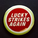 Lucky Strike cigarette promotional vintage lapel pin button 1970 's