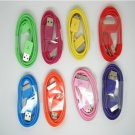 Free shipping colorful USB cable for iPhone 3/3gs/4/ipad1/ipad2