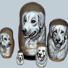 Kuvasz on Russian Nesting Dolls.  #2.  Dogs.