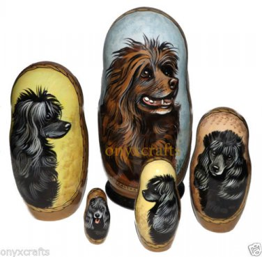 Portuguese Water Dog on Russian Nesting Dolls. #2  Dogs.