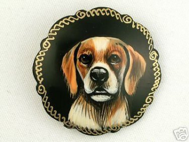 Brittany on Russian Hand-painted Brooch.