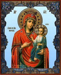 Madonna of Iveron. Christian Icon. Russia. Huge.