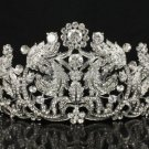 H-Quality Bridesmaid Bridal Tiara Crown W/ Clear Swarovski Crystals For Wedding