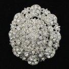 """Rhinestone Crystals Wedding Clear Fashion Flower Brooch 2.7"""""""
