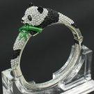 Hot H-Quality Animal Panda Bracelet Bangle Cuff W/ Clear Swarovski Crystals