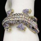 Hot Purple A/B Crocodile Bracelet Bangle Swarovski Crystals