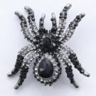 Vogue Black Tarantula Spider Brooch Pin W/ Swarovski Crystals