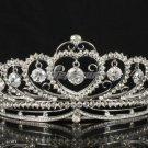 Gorgeous Swarovski Crystals Hearts Tiara Crown for Bridal Wedding w/ Dangle