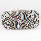 Gorgeous Multicolor Swarovski Crystals Clutch Evening Purse Bag Handbag