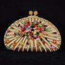 Special Offer Luxurious Clutch Evening Handbag Purse Bag W/ Swarovski Crystals