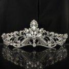 Swarovski Crystals Rose Flower Tiara Crown Wedding