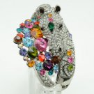 High Quality Steed Horse Bracelet Bangle Cuff W/ Multicolor Swarovski Crystals