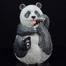 Luxurious Jeweled Full Swarovski Crystals Kung Fu Panda Jewelry Trinket Box