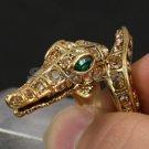 Swarovski Crystals Animal Brown Crocodile Ring USA size 6#;7#,8# Special Offer